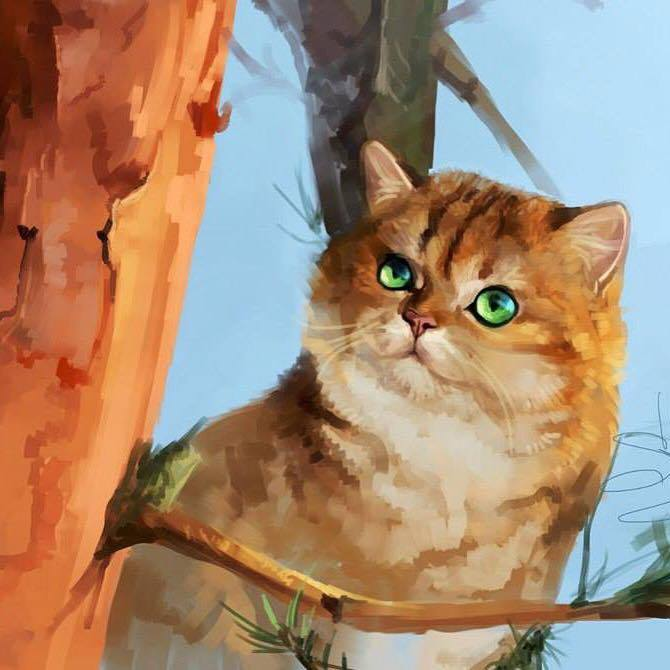 Golden Neko paintings